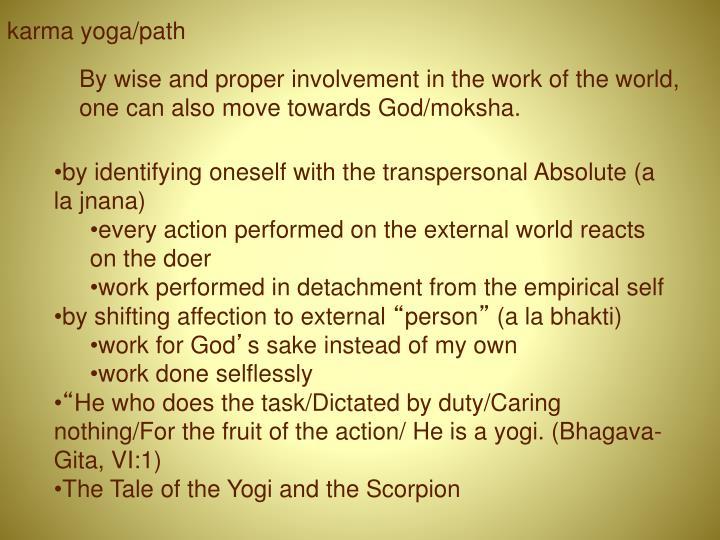 karma yoga/path