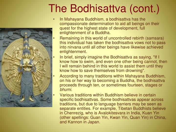 The Bodhisattva (cont.)