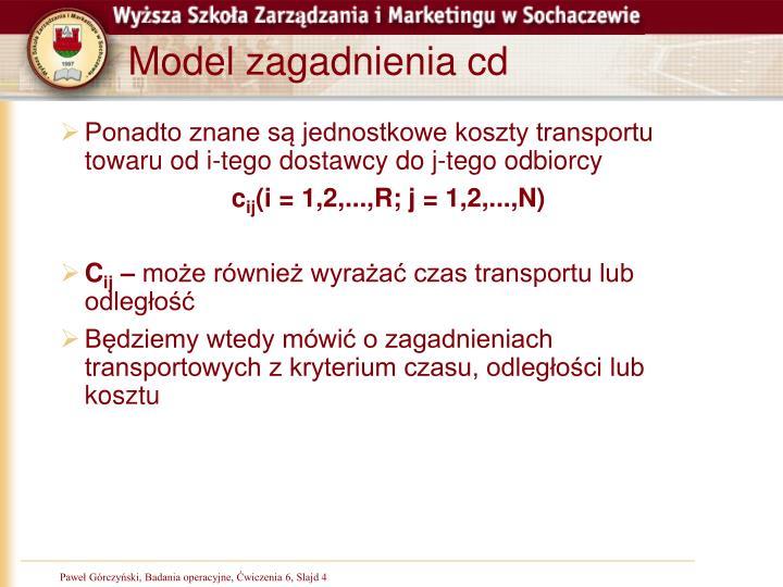 Model zagadnienia cd
