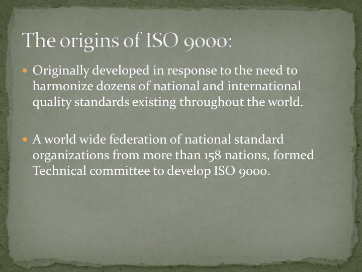 The origins of ISO 9000: