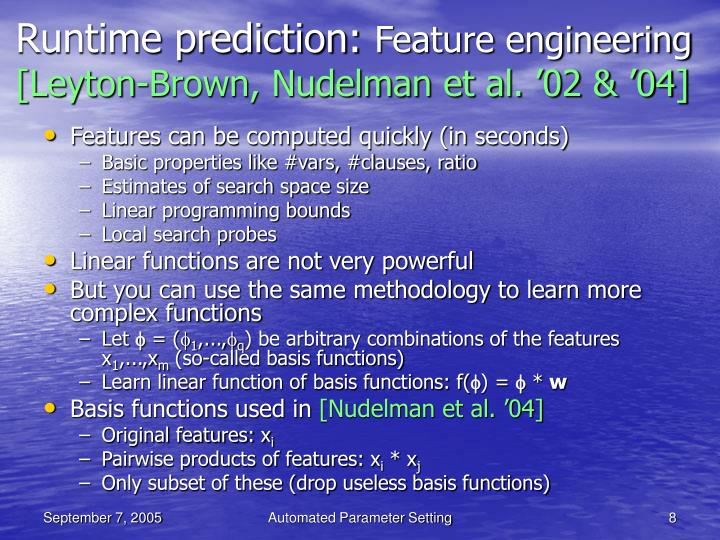 Runtime prediction: