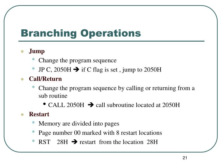 Branching Operations