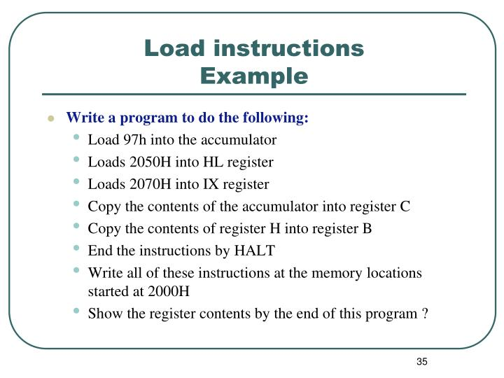Load instructions