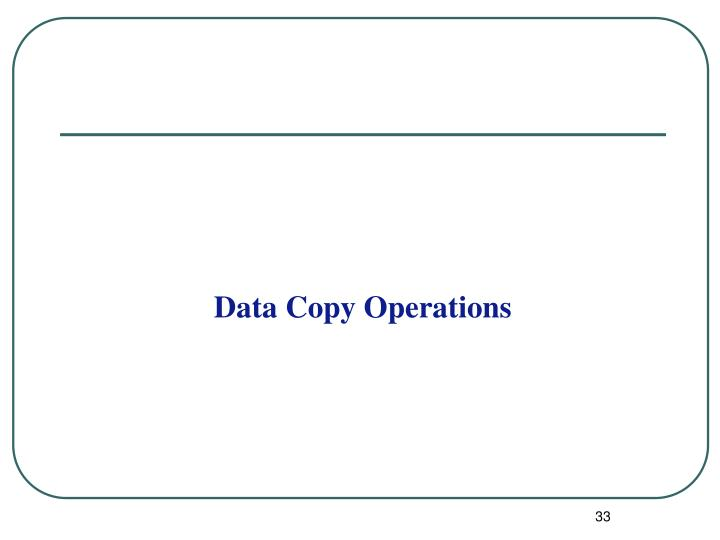Data Copy Operations