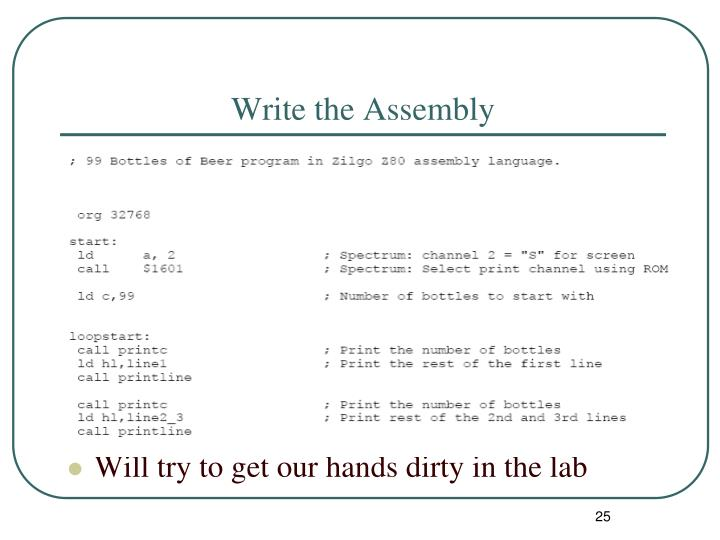 Write the Assembly