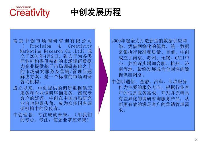 南京中创市场调研咨询有限公司(