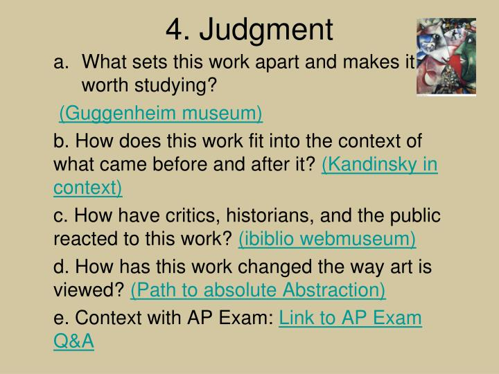 4. Judgment