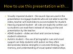 how to use this presentation with