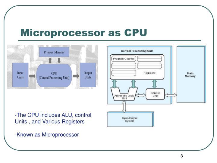 Microprocessor as CPU