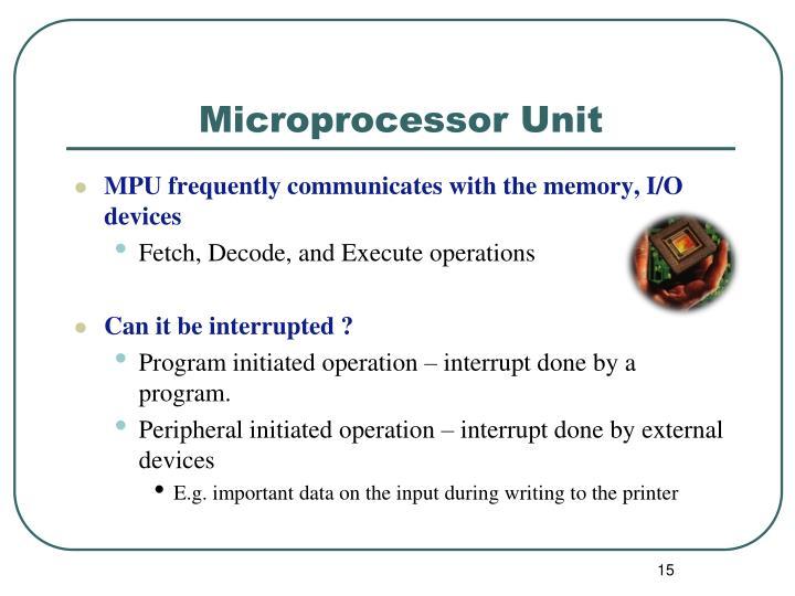 Microprocessor Unit