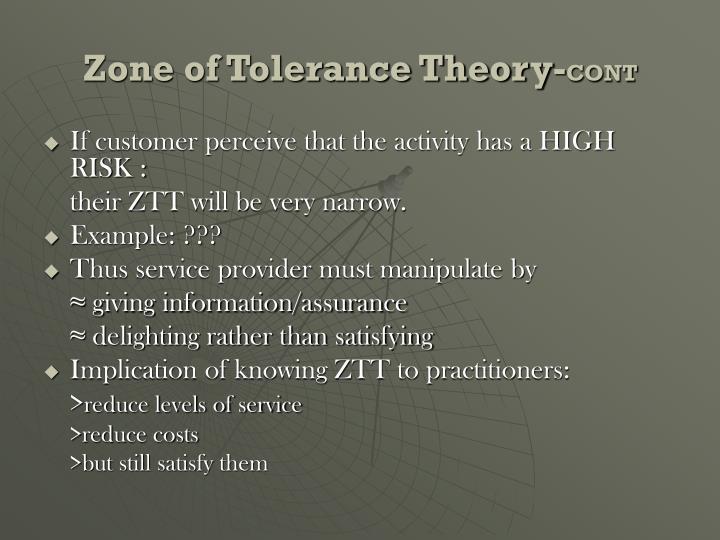 Zone of Tolerance Theory-