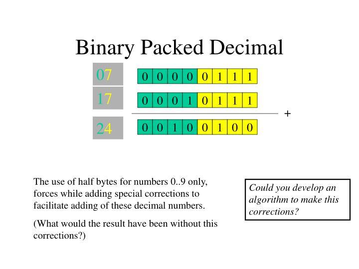 Binary Packed Decimal