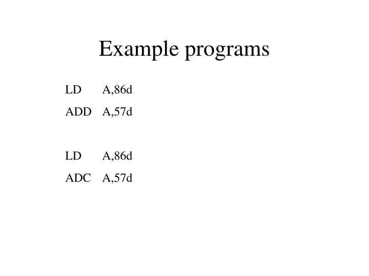 Example programs