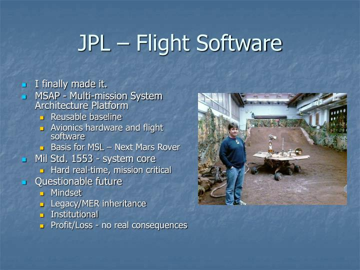 JPL – Flight Software