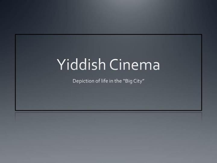 Yiddish cinema