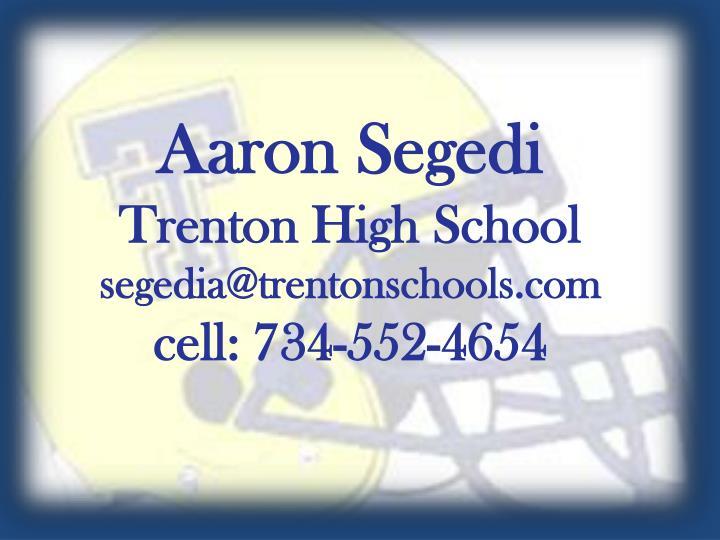 Aaron Segedi