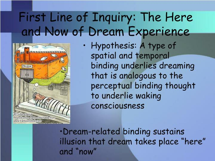 First Line of Inquiry: The Here and Now of Dream Experience