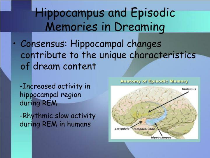 Hippocampus and Episodic Memories in Dreaming