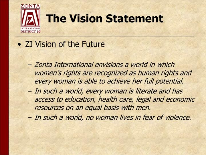 The vision statement