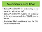 accommodation and travel