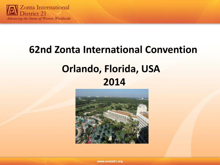 62nd Zonta International Convention