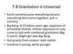 7 8 gravitation is universal