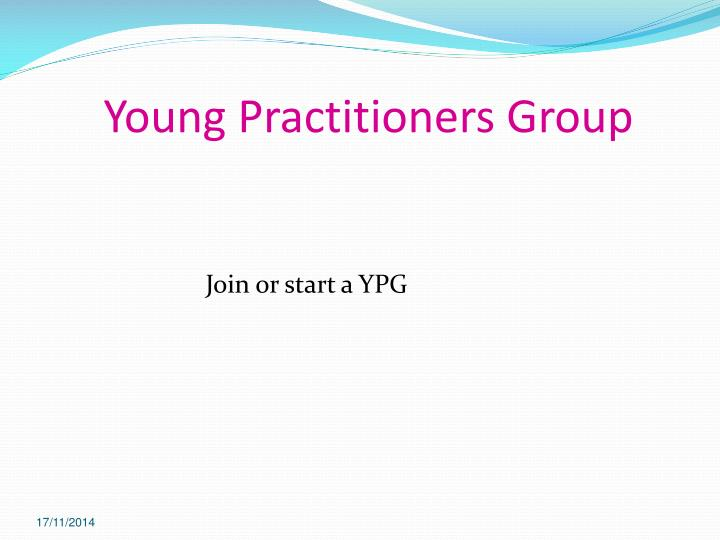 Young Practitioners Group