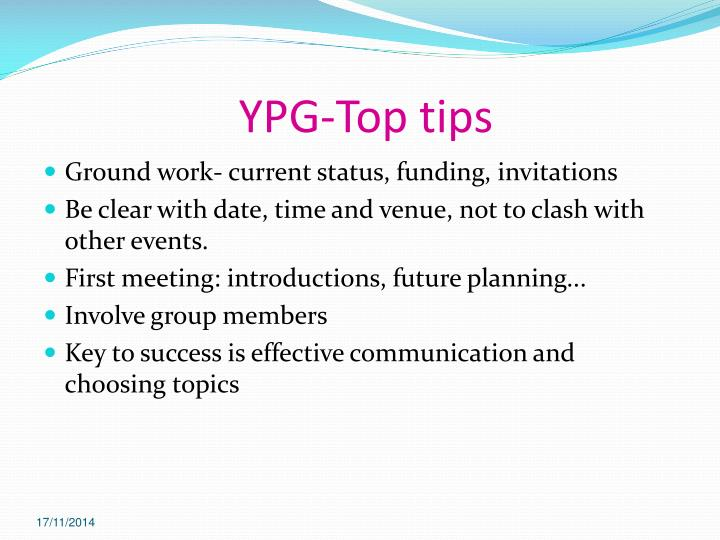 YPG-Top tips