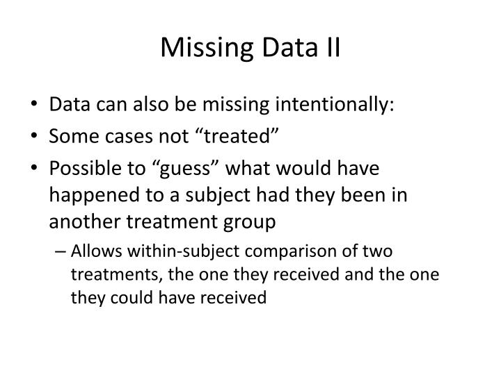 Missing Data II