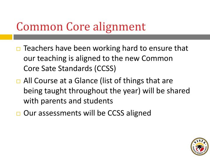 Common Core alignment