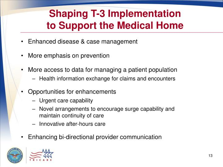 Shaping T-3 Implementation