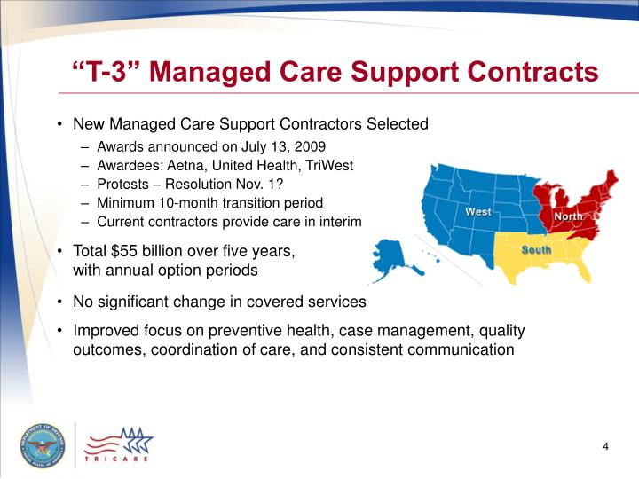 """""""T-3"""" Managed Care Support Contracts"""