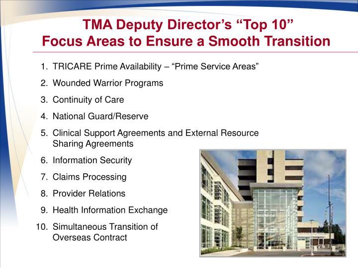"TMA Deputy Director's ""Top 10"""