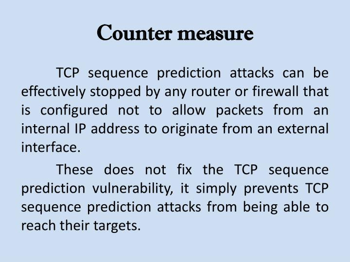 Counter measure