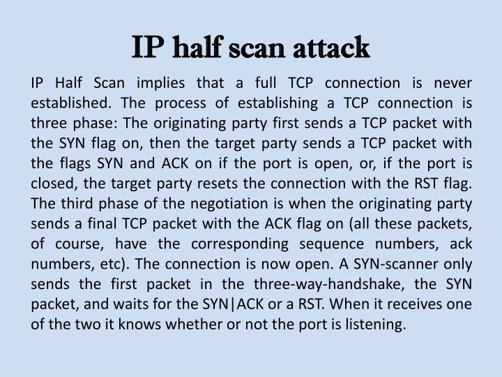 IP half scan attack