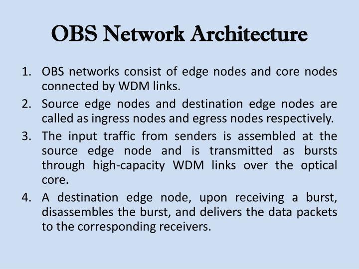 OBS Network Architecture