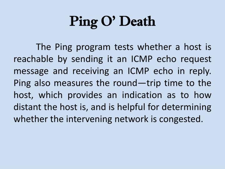 Ping O' Death
