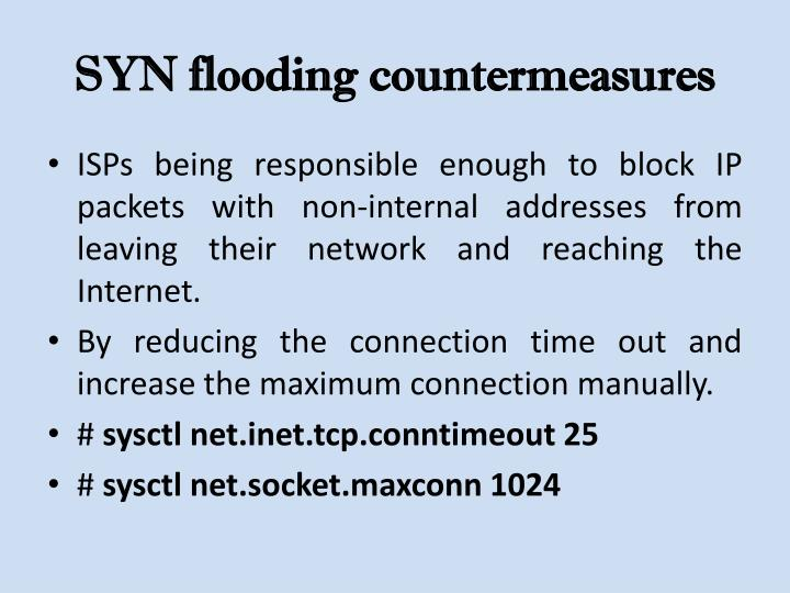 SYN flooding countermeasures