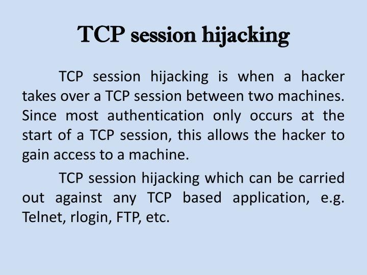 TCP session hijacking