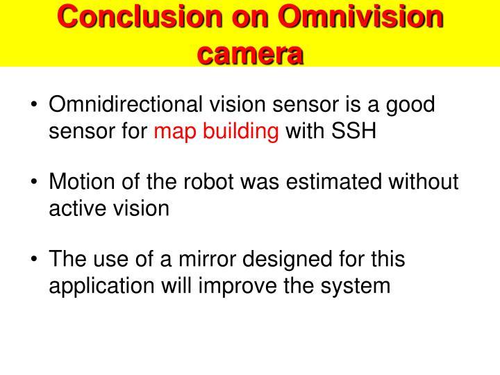 Conclusion on Omnivision camera