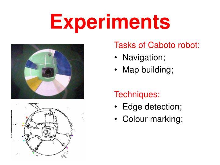 Tasks of Caboto robot: