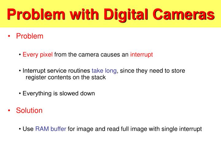 Problem with Digital Cameras