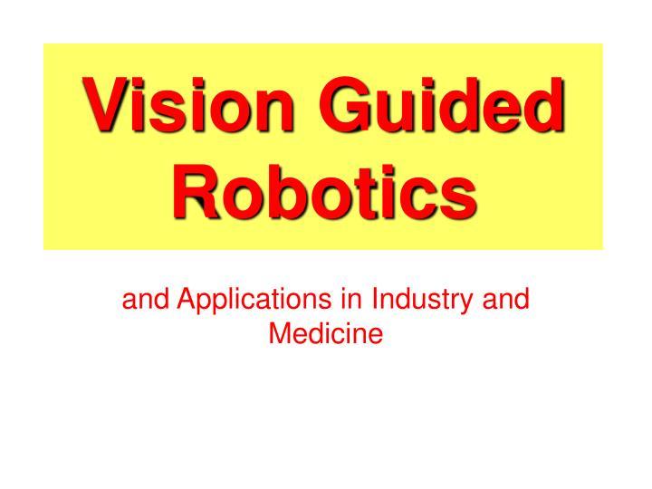 Vision Guided Robotics