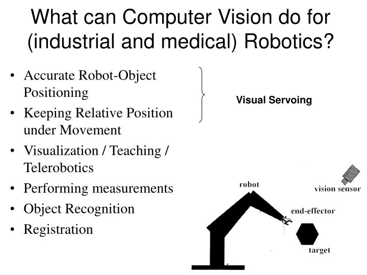 What can Computer Vision do for (industrial and medical) Robotics?