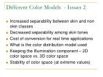 different color models issues 2