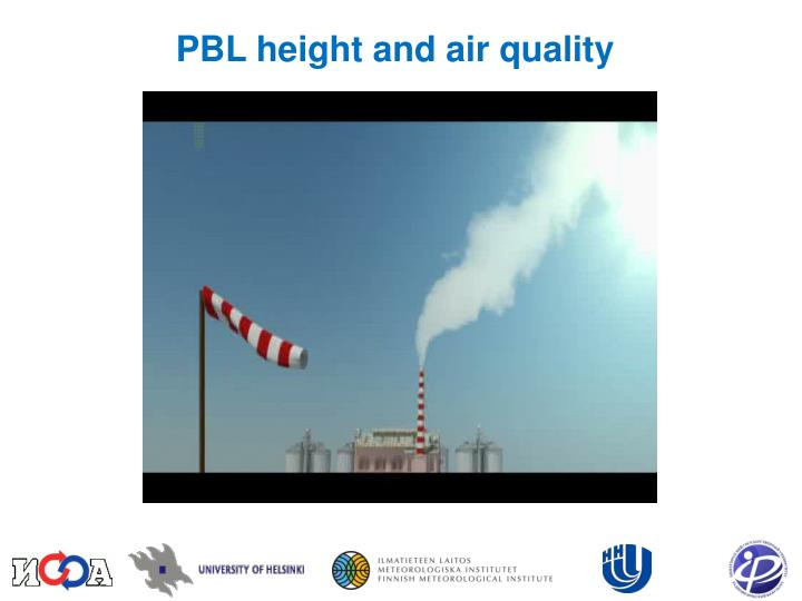 PBL height and air quality