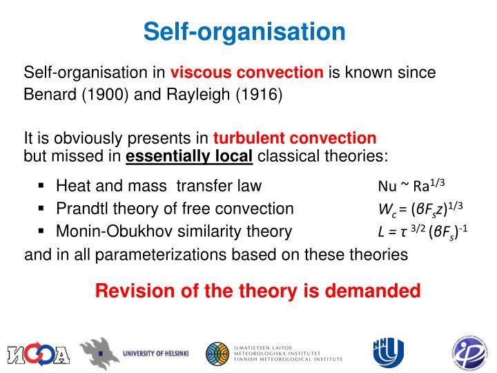 Self-organisation