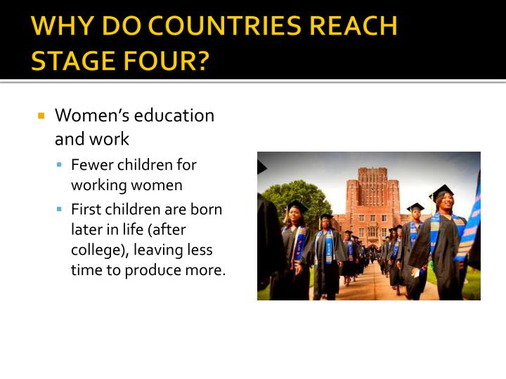 WHY DO COUNTRIES REACH STAGE FOUR?