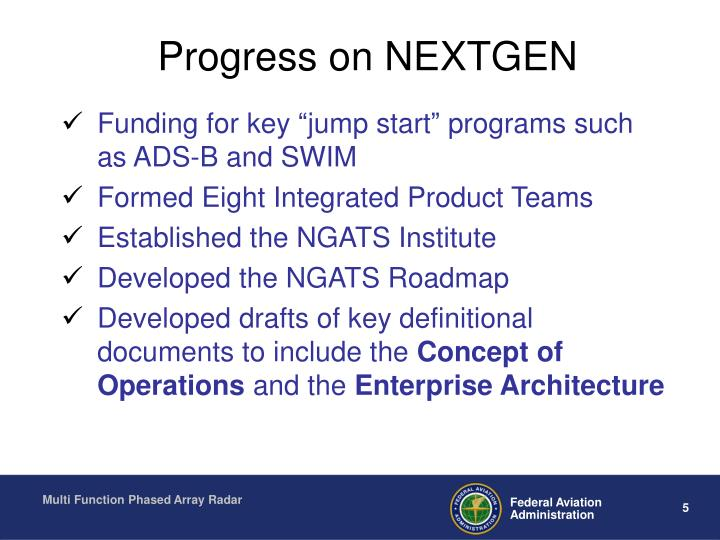 Progress on NEXTGEN
