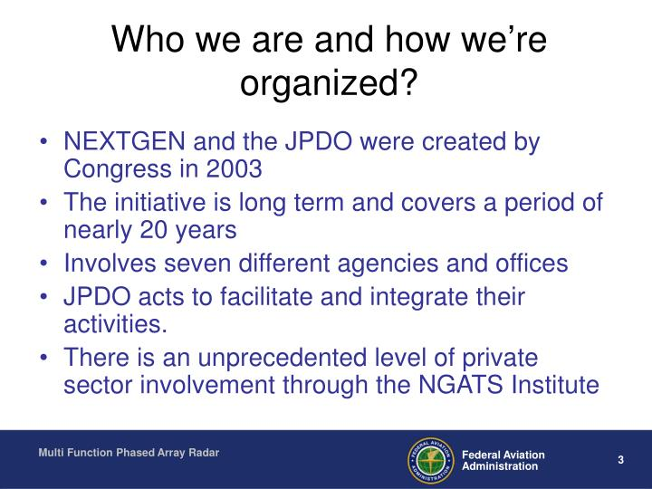Who we are and how we're organized?